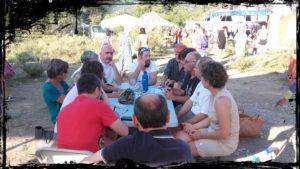 Momento di scambio di esperienze con i Corto Circuiti francesi.
